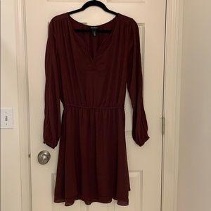 White House Black Market Merlot Dress